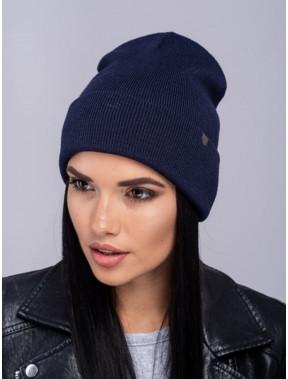 Темно-синяя женская шапка Наоми