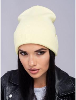 Стильная желтая шапка Наоми