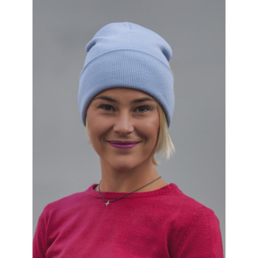 Голубая шапка из коттона Спринт  фото 1