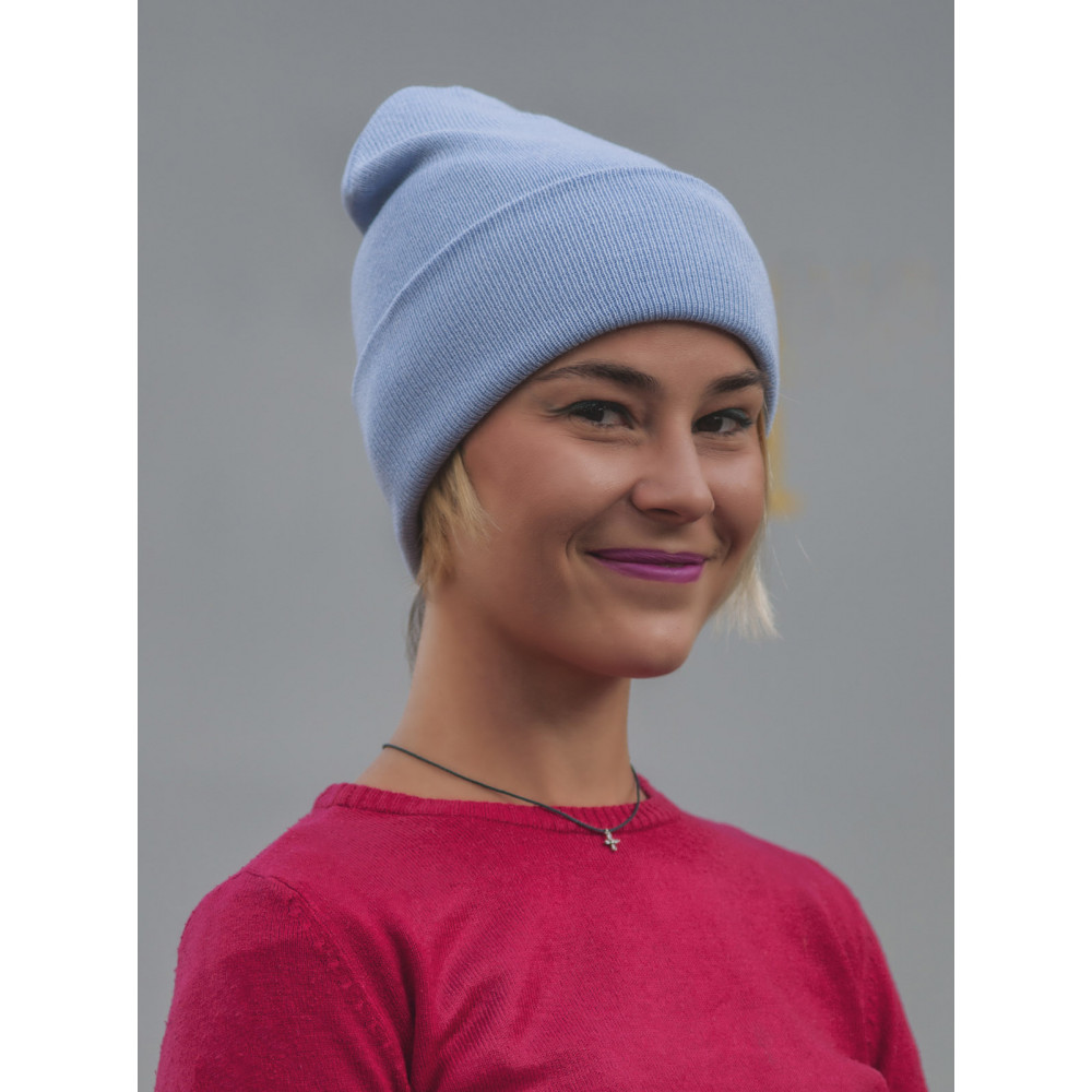 Голубая шапка из коттона Спринт  фото 2