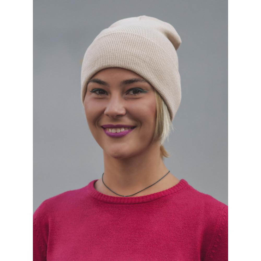Бежевая шапка Спринт  фото 1