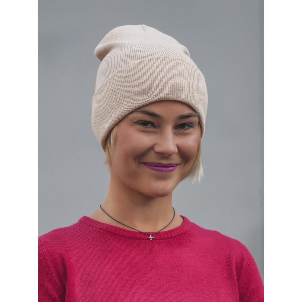 Бежевая шапка Спринт  фото 2
