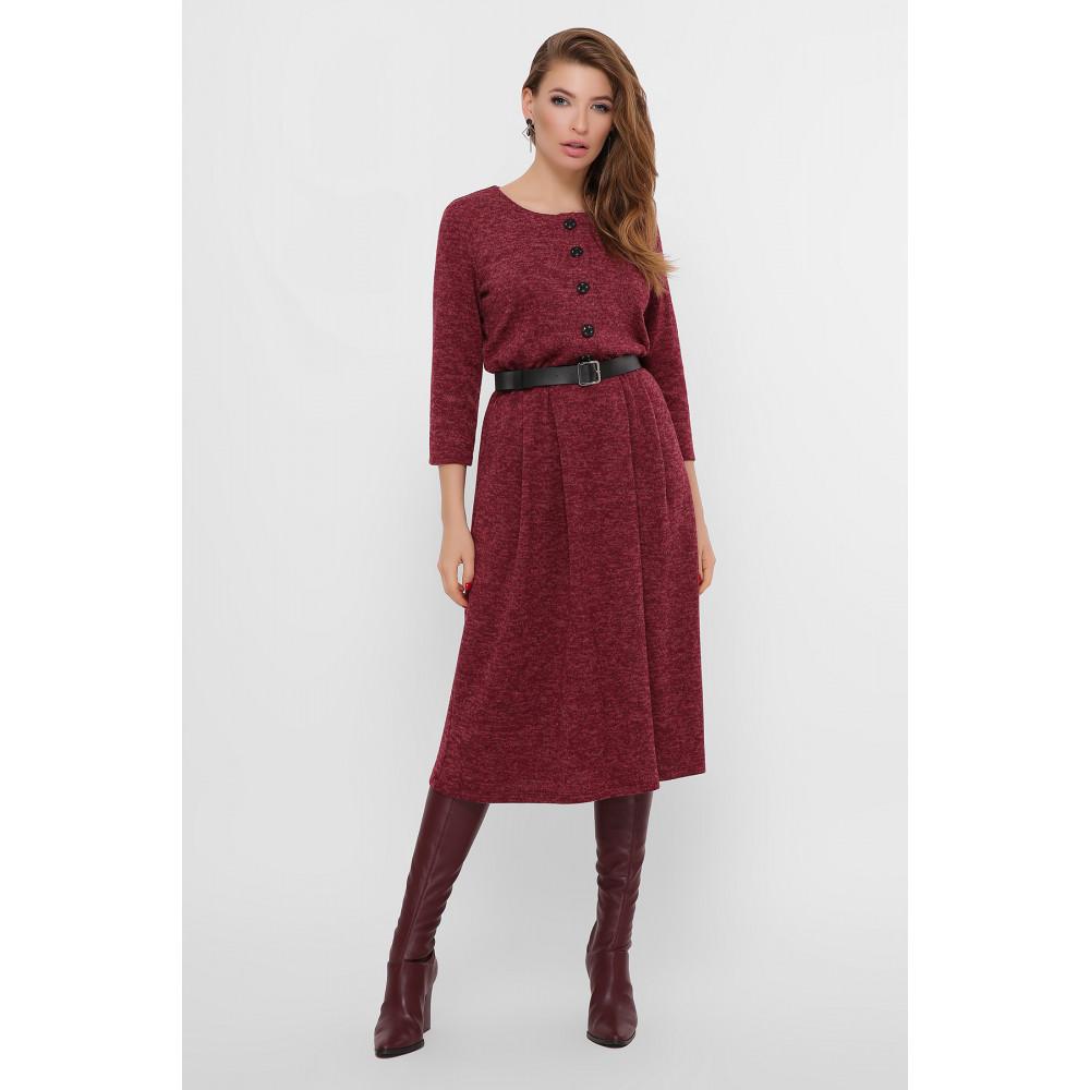 Бордовое уютное платье Инесса фото 1