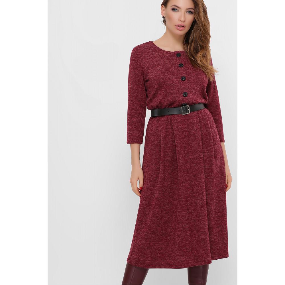 Бордовое уютное платье Инесса фото 2