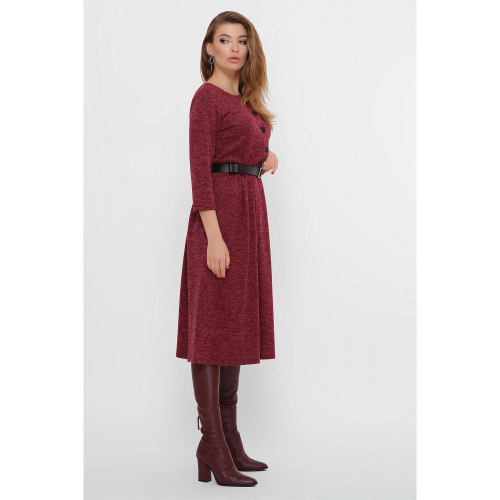 Бордовое уютное платье Инесса фото 3