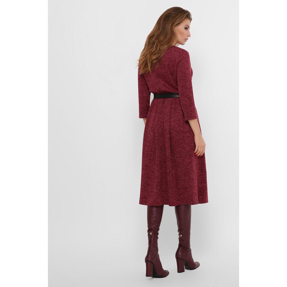 Бордовое уютное платье Инесса фото 4
