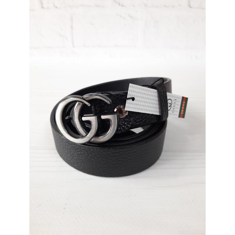 Кожаный ремень с еффектной пряжкой Gucci фото 1