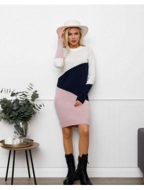 Оригинальное вязаное платье Милена