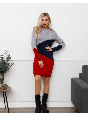 Теплое вязаное платье Милена