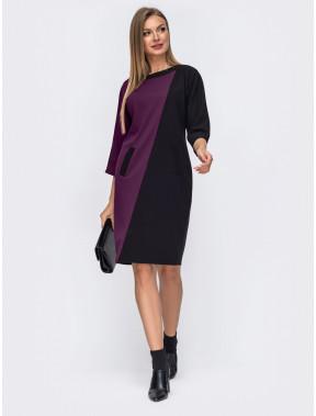 Оригинальное двухцветное платье Нелли