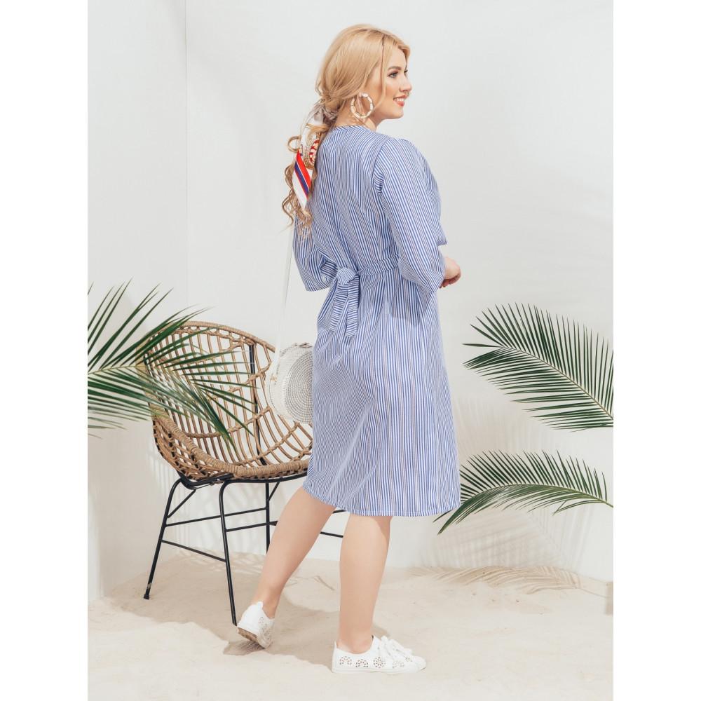 Комфортное платье в узкую полоску фото 2
