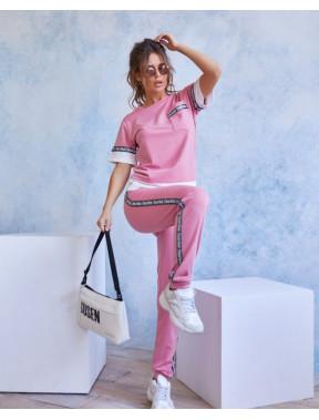 Рожевий спортивний трикотажний костюм Хелен
