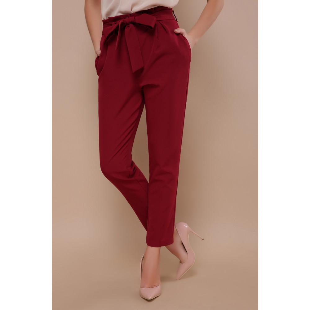 Зауженные брюки бордового цвета Челси фото 1