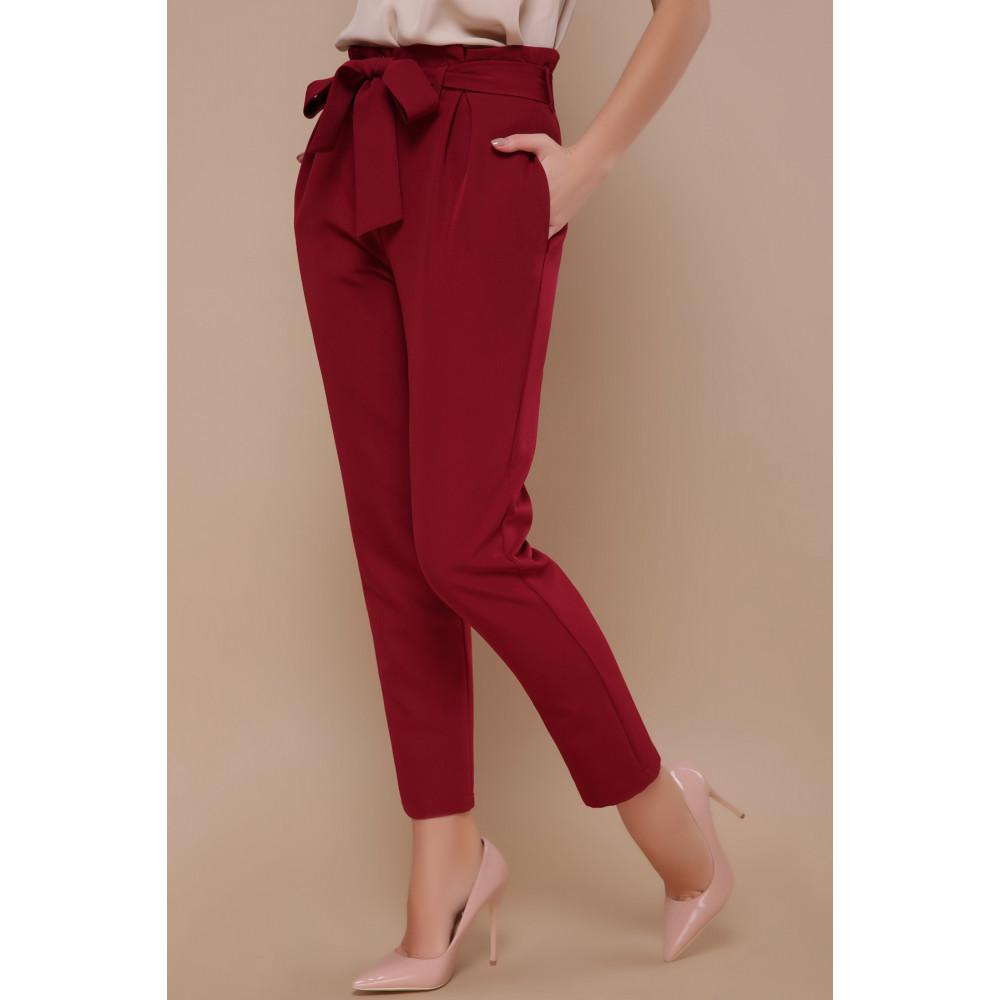 Зауженные брюки бордового цвета Челси фото 2