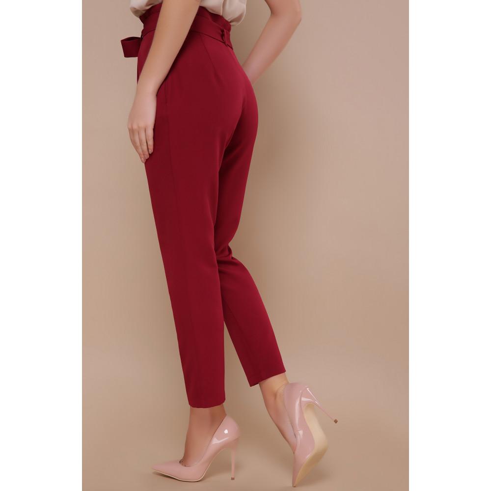 Зауженные брюки бордового цвета Челси фото 3