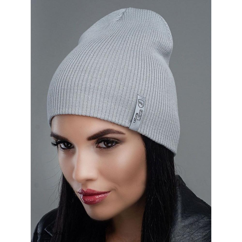 Интересная серо-голубая шапка Риана  фото 1