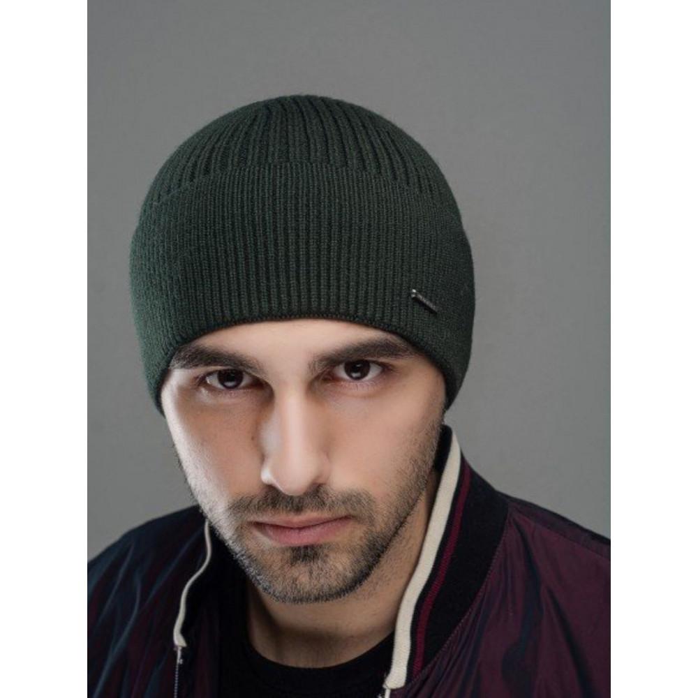 Зеленая осенняя шапка Макс фото 1