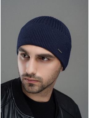 Синяя вязаная шапка Макс