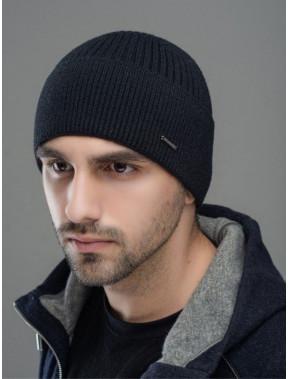 Черная шапка с манжетом Макс