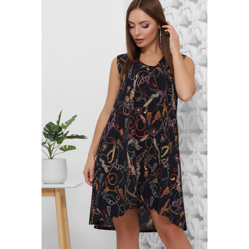 Легкое летнее принтованное платье фото 2