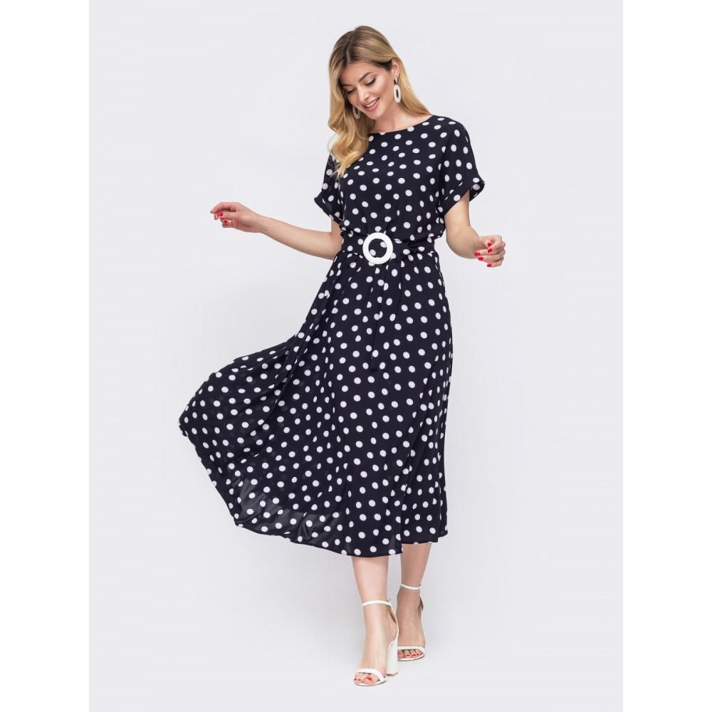 Интересное платье в ретро-стиле с поясом фото 1