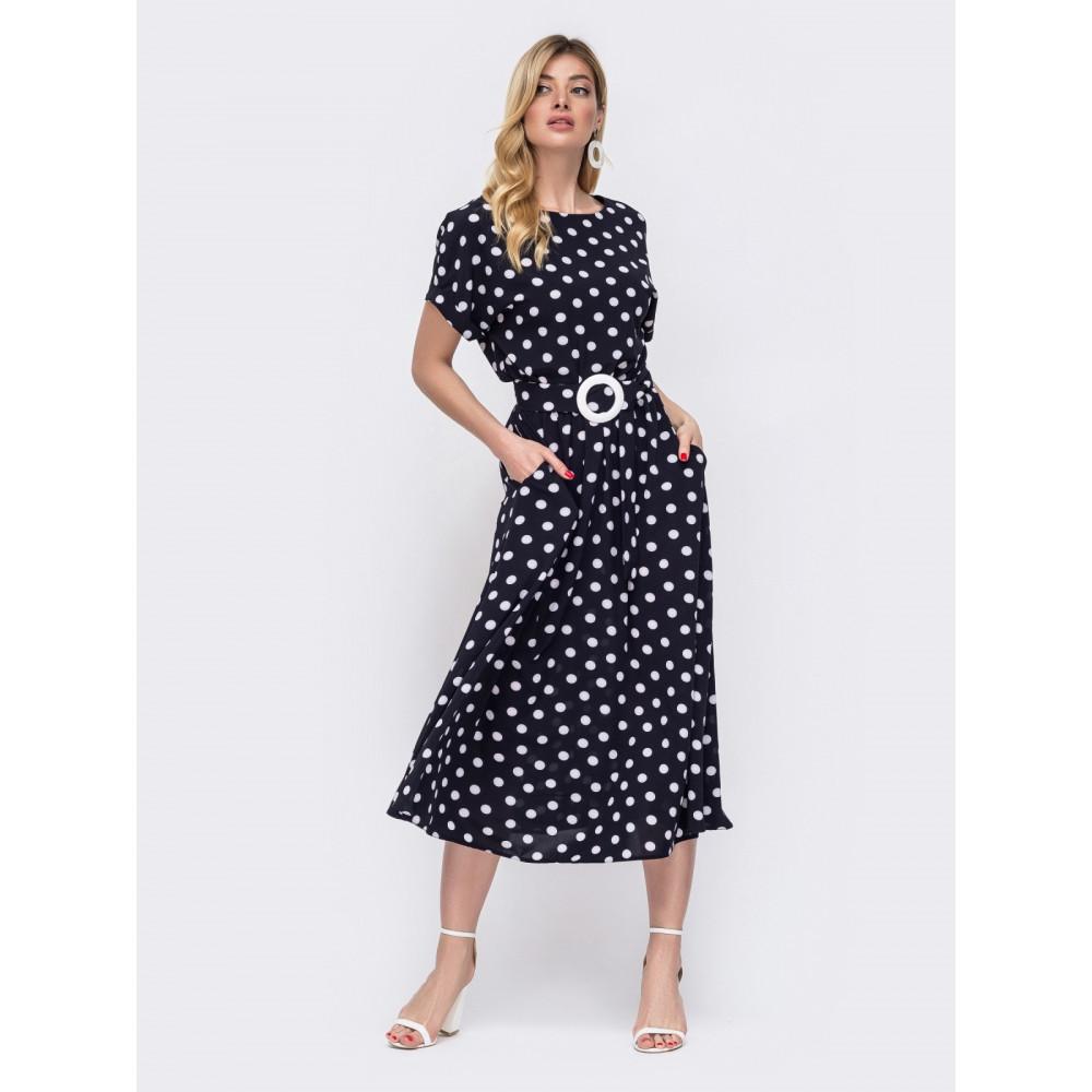 Интересное платье в ретро-стиле с поясом фото 2