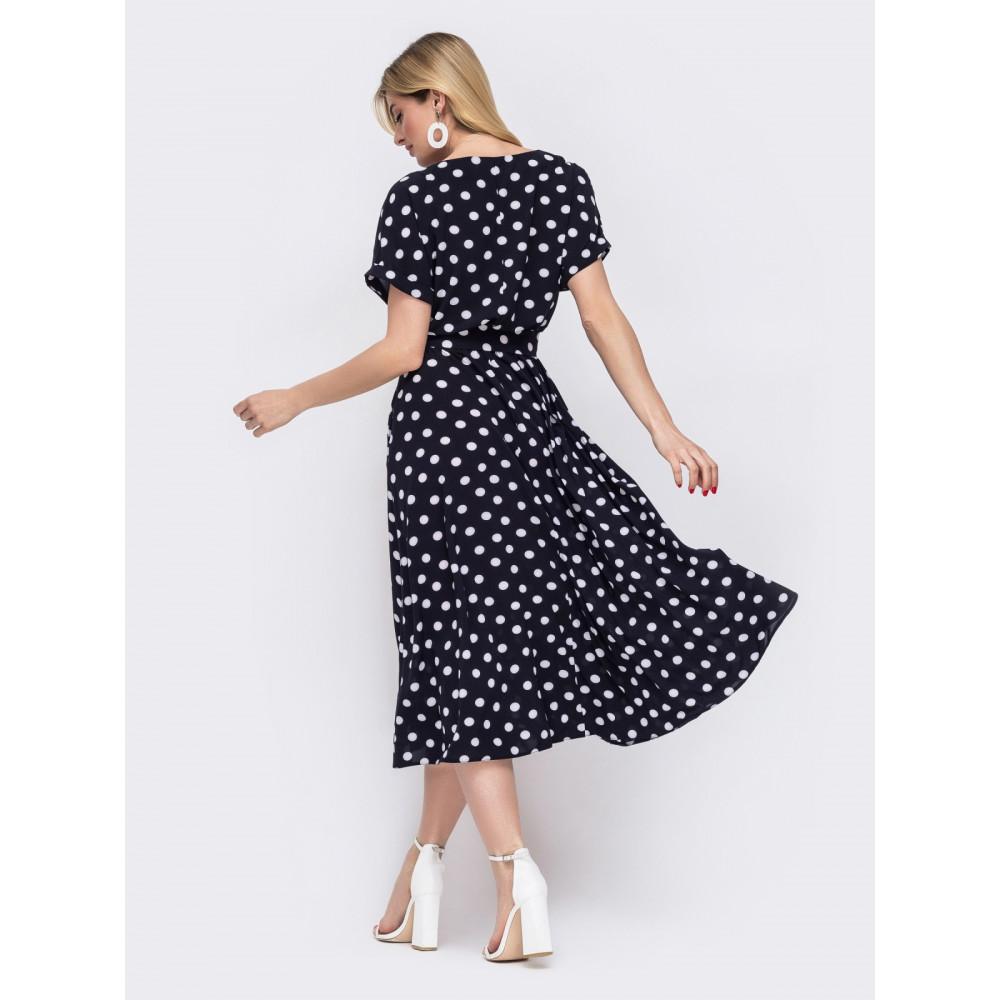 Интересное платье в ретро-стиле с поясом фото 3