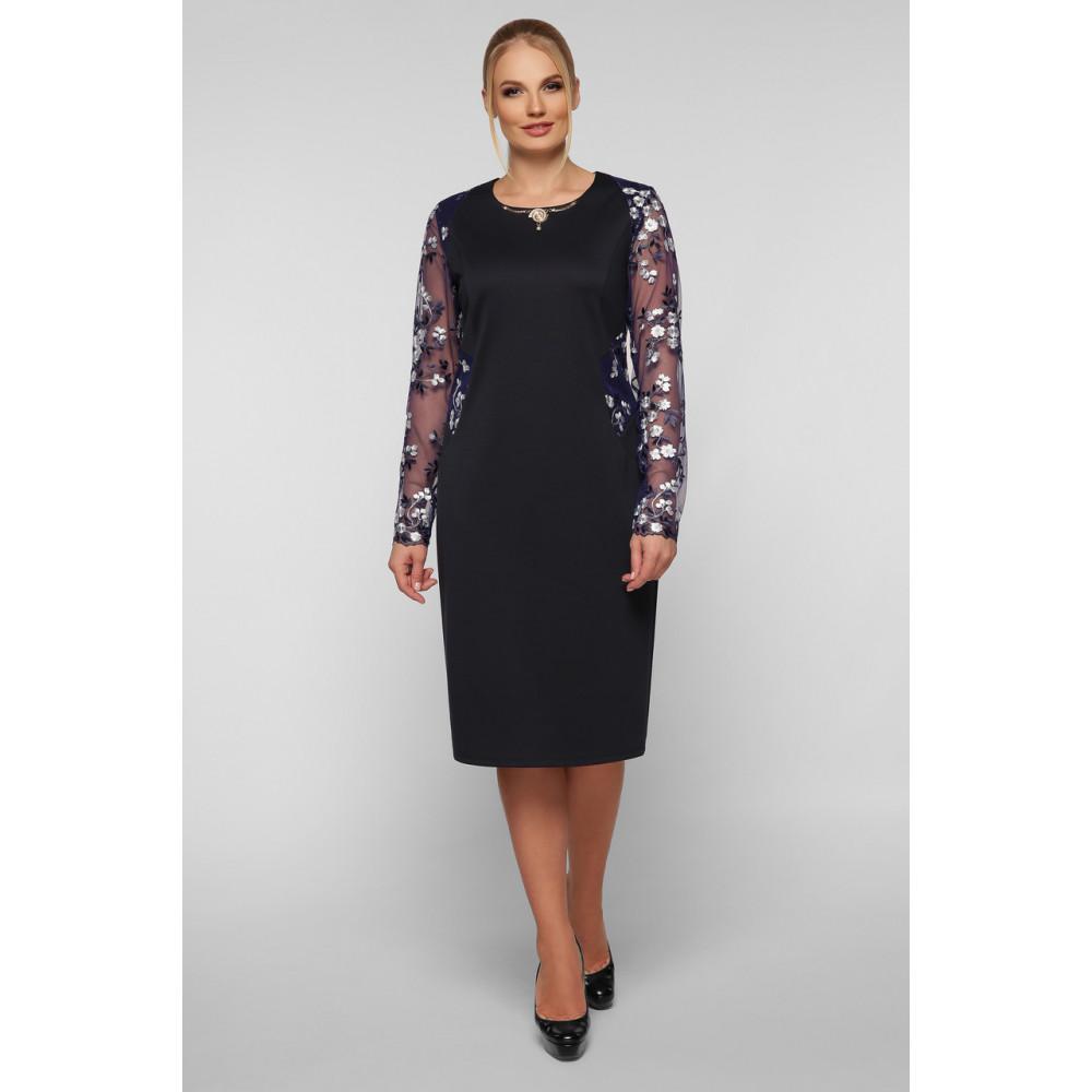 Коктейльное платье-футляр с вышивкой Адель фото 1