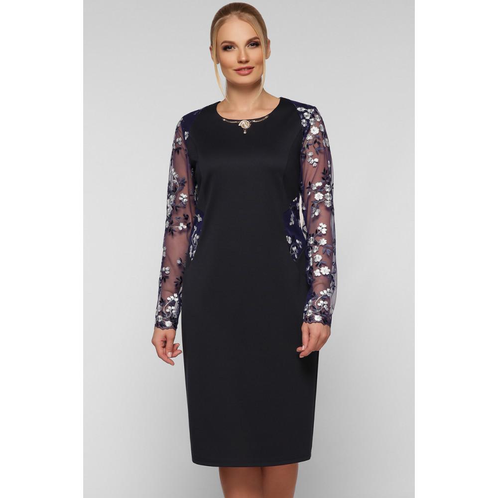 Коктейльное платье-футляр с вышивкой Адель фото 4