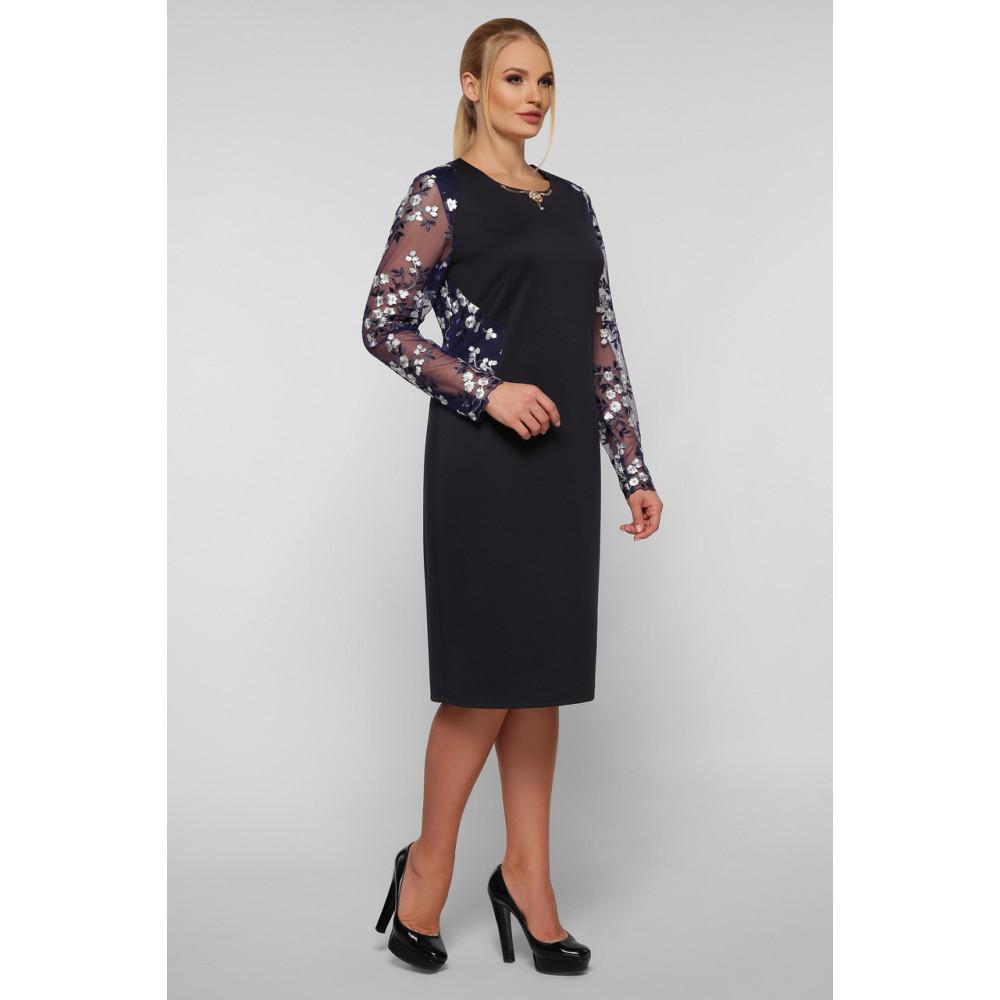 Коктейльное платье-футляр с вышивкой Адель фото 6
