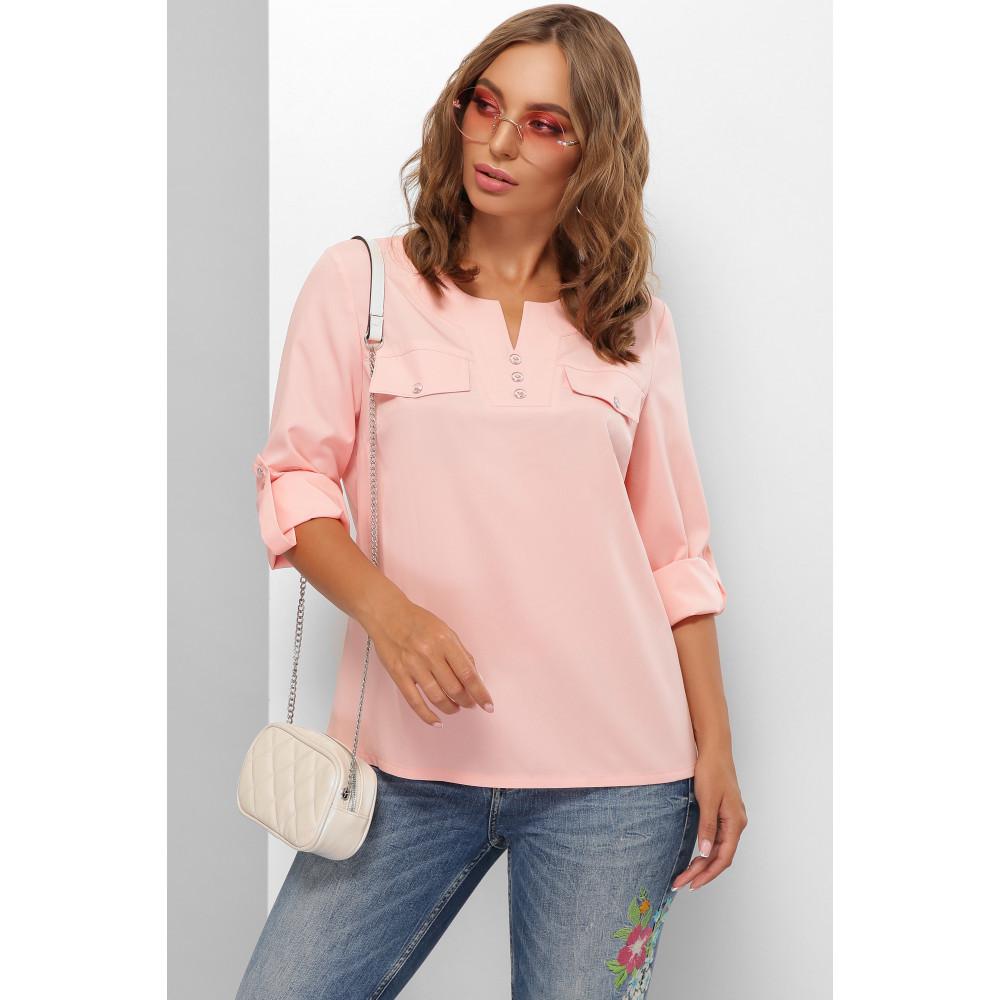 Женственная персиковая блузка Лана фото 1