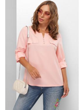 Жіночна персикова блуза Лана