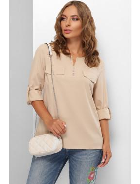 Пряма жіночна блуза Лана
