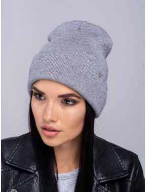 Серая меланжевая шапка Наоми
