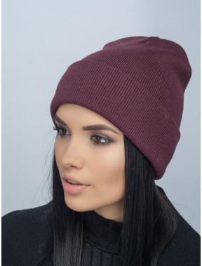 Молодежная бордовая шапка Наоми