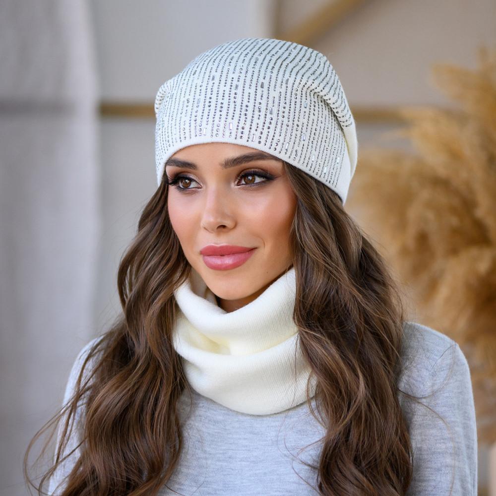 Белая женская шапка Коди фото 1