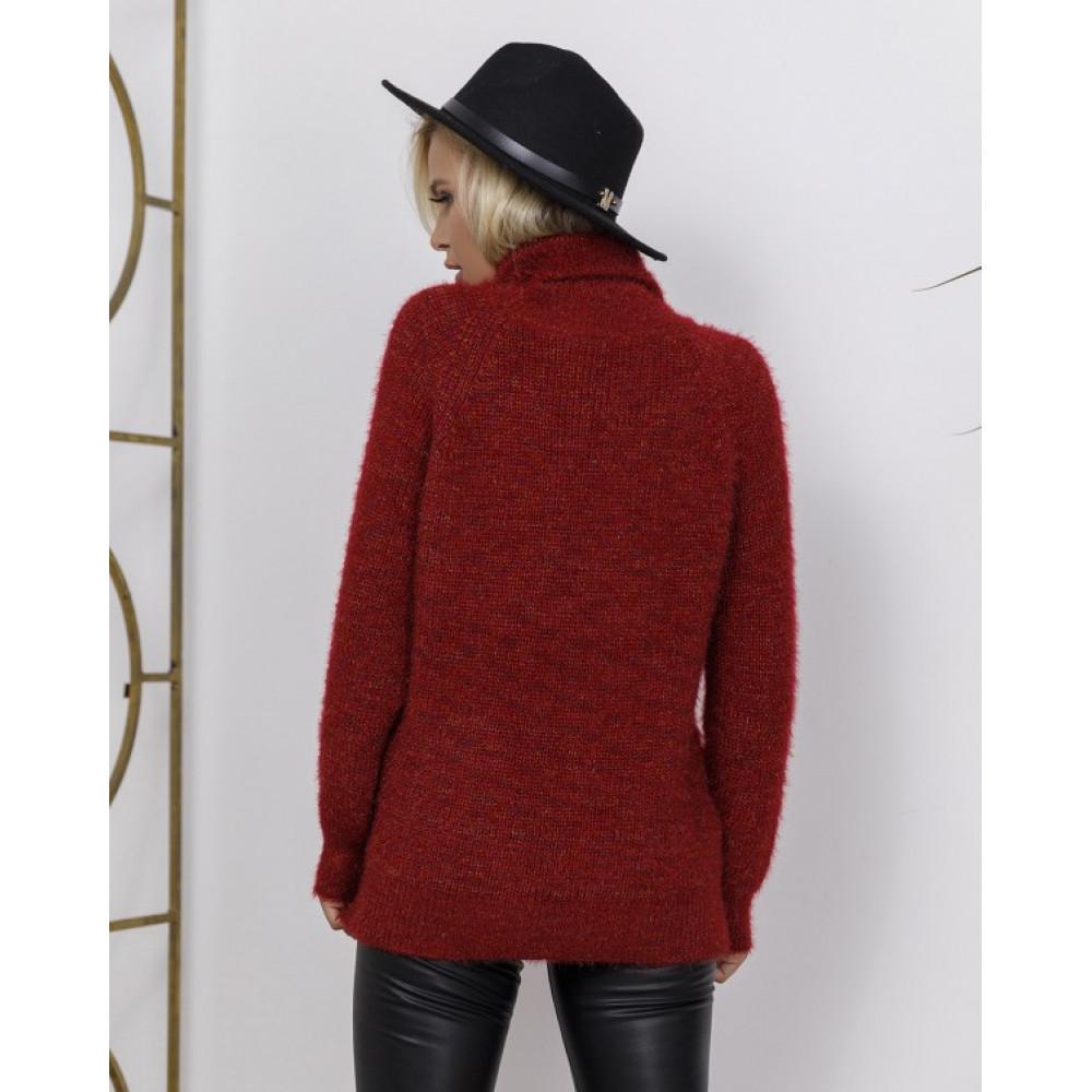 Бордовый меланжевый свитер Николетт фото 2