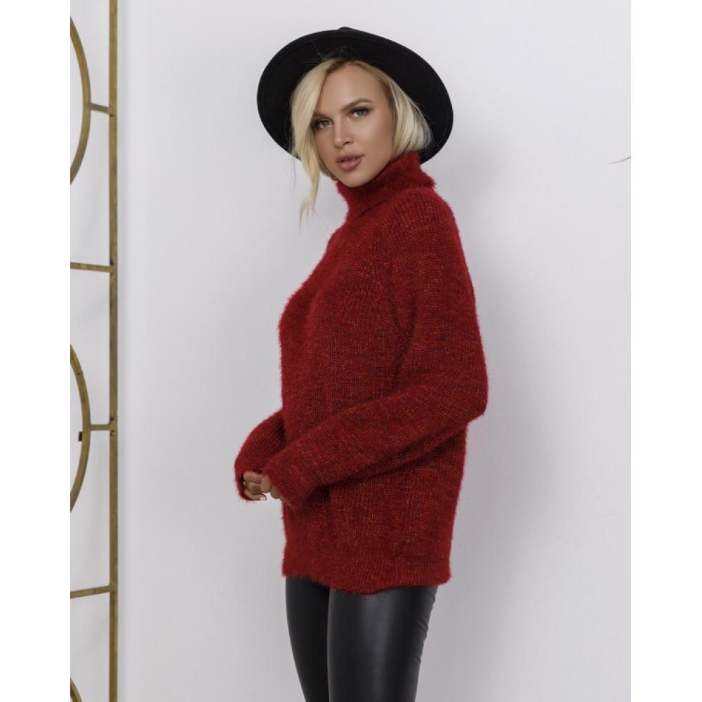 Бордовый меланжевый свитер Николетт фото 3