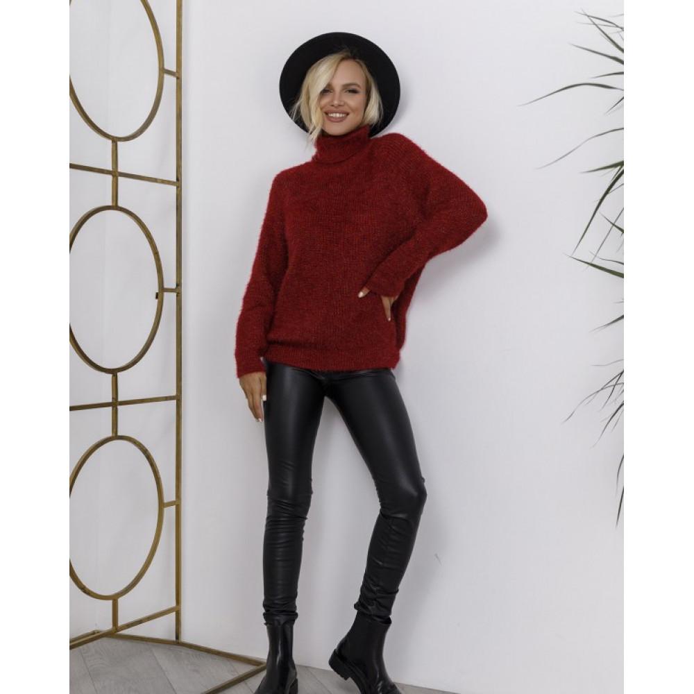 Бордовый меланжевый свитер Николетт фото 1