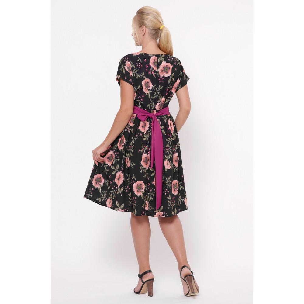 Красивое черное платье в розы Лорен фото 5