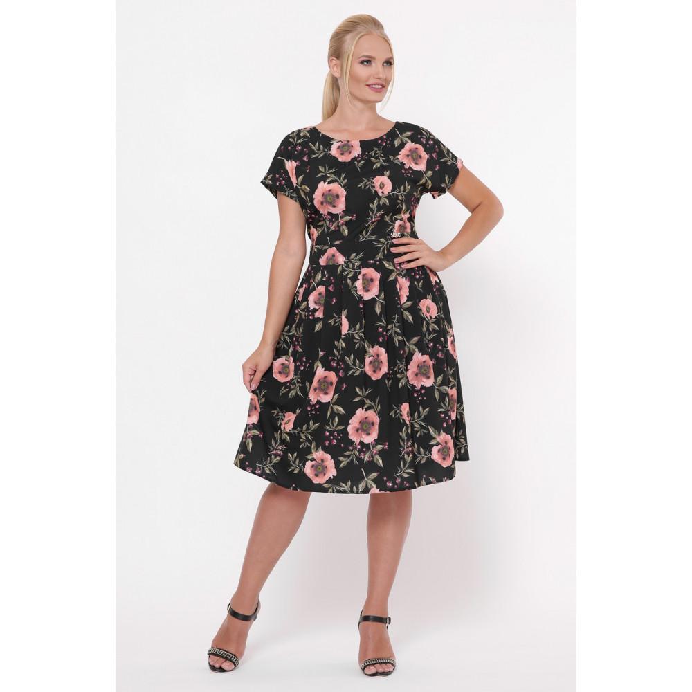 Красивое черное платье в розы Лорен фото 6