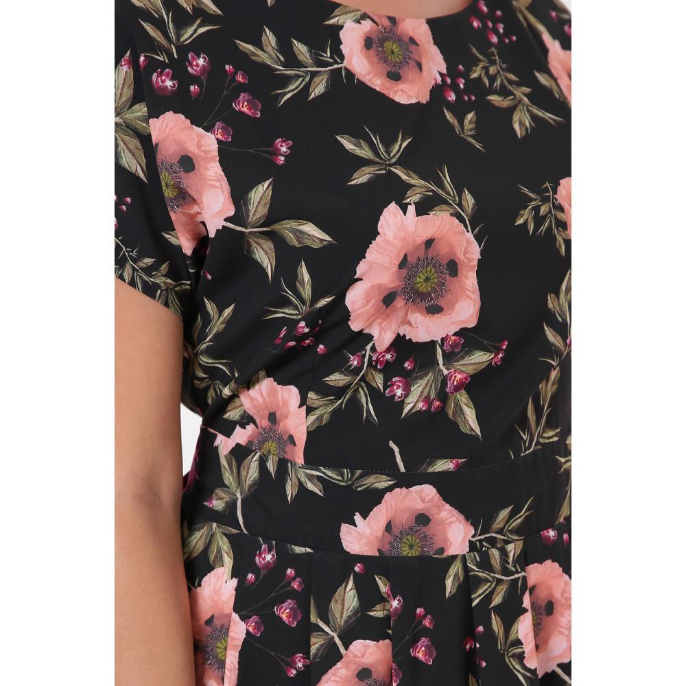 Красивое черное платье в розы Лорен фото 7