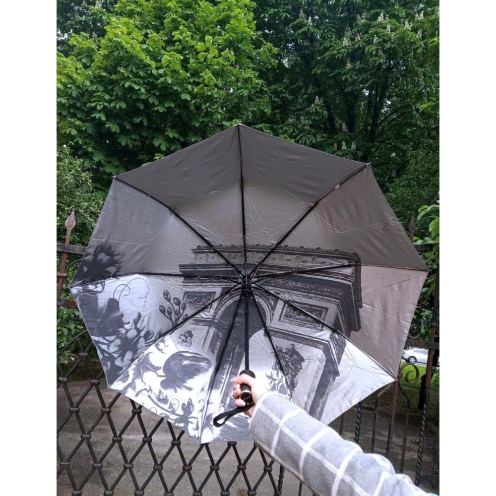 Интересный зонт с рисунком внутри купола фото 1