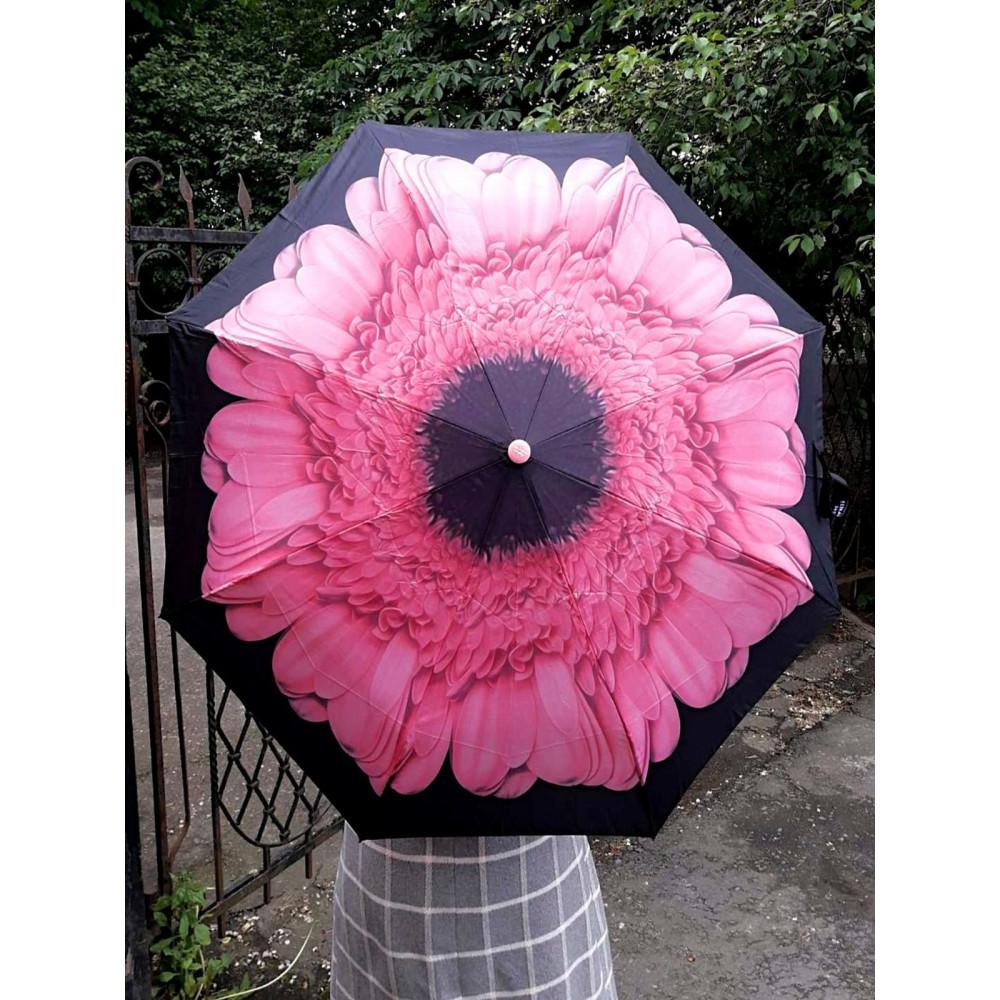 Женственный зонт с цветком фото 1