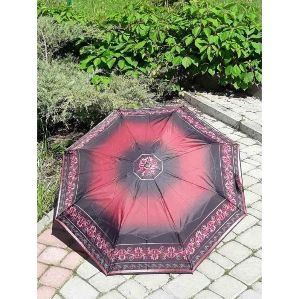 Бордовый женский зонт фото 1