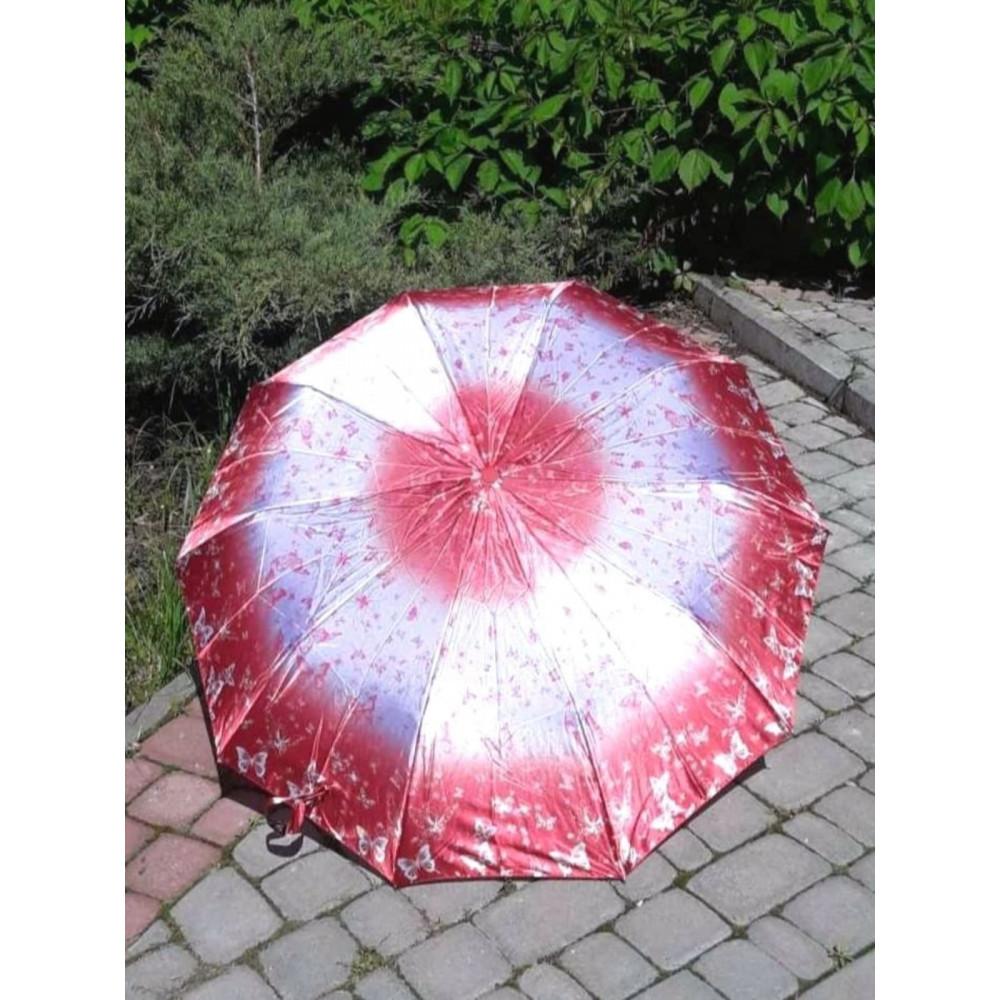 Женский зонт с бабочками и эффектом омбре фото 1