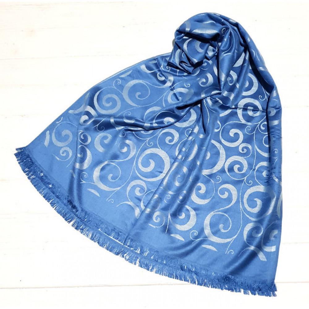 Модный голубой палантин Вензель фото 1