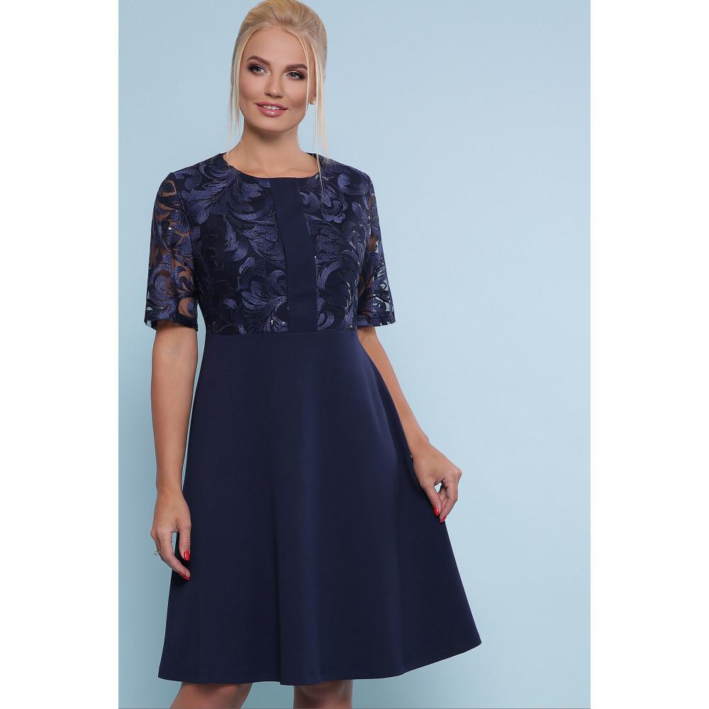 Коктейльное синее платье Герда фото 1
