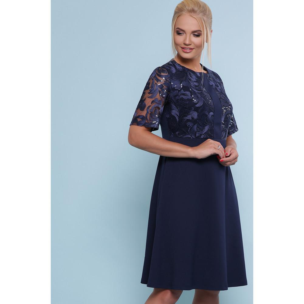 Коктейльное синее платье Герда фото 2