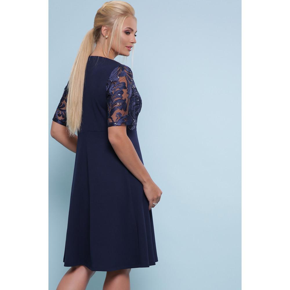 Коктейльное синее платье Герда фото 3